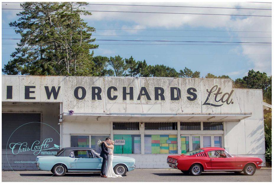 Mustang wedding cars , Kumeu orchard