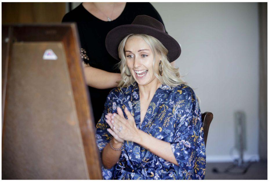 Bride gets ready for wedding , Northridge Countryy Estate