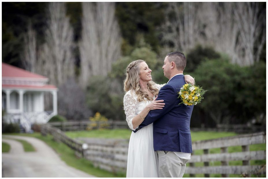 Bride and groom buy Puhoi Village historic homestead