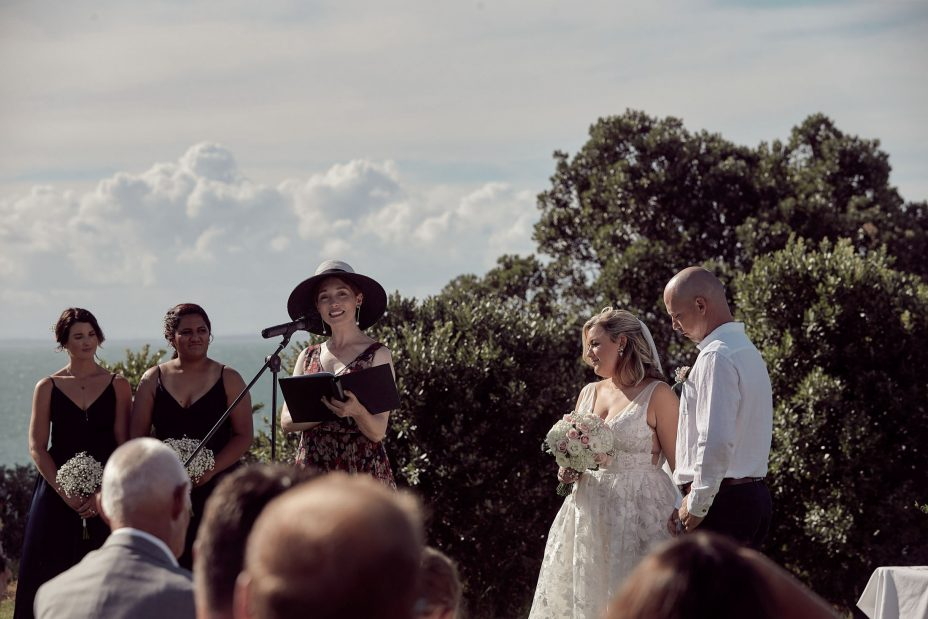 wedding ceremony at for takapuna